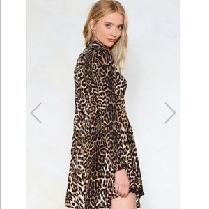 Nasty Gal Dresses - Nasty Gal Feline Yourself Leopard Dress